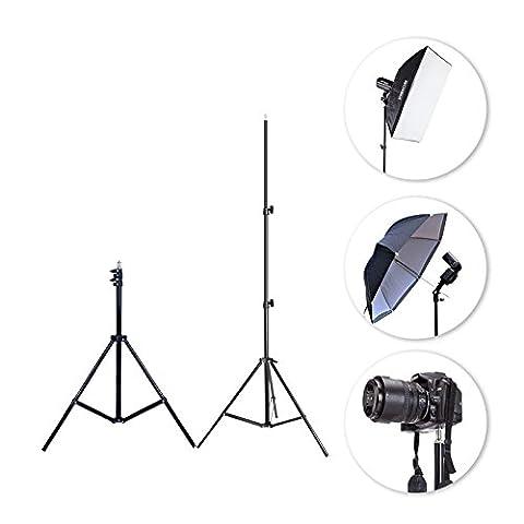 OUBO 2x 210cm profi Lampenstativ einstellbare Aluminium Fotografie Foto-Studio-Licht Stativ Set für Video, Porträt und Fotografie Beleuchtung (2 (Digital Studio Beleuchtung)