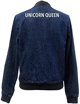 Unicorn Queen Bomber Chaqueta Girls Jeans Certified Freak