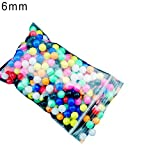 pushfocourag Fishing Accessory, 100Pcs 6mm/8mm Round Multicolor Rig Beads Sea Fishing Lure Float Tackles-Color Mixing 6mm