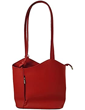 2 in 1 Handtasche Rucksack Designer Luxus Henkeltasche aus Echtleder in versch. Designs
