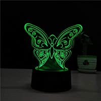 3D LED forma de la mariposa NightLight USB Animal mesa lámpara de escritorio regalos de los