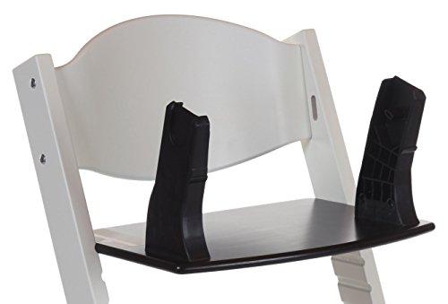 Treppy Maxi-Cosi Adapter Cojín para trona Negro - Accesorios para tronas infantiles (Cojín para trona, Negro, Madera, Monótono, Maxi-Cosi Cabrio, Cabr