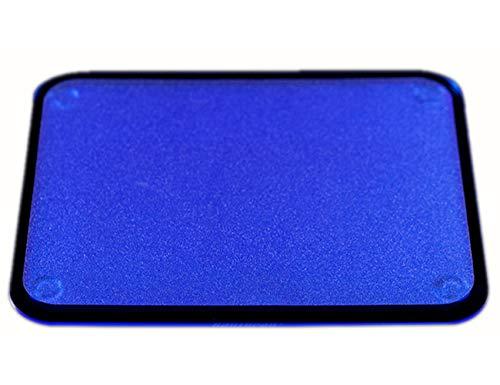 Unbekannt Dean Game Mauspad, 280 x 220 mm, leuchtendes Mauspad, Fluoreszierendes Acryl, Mauspad, modisch, Cooles Design, Grün/Blau/Orange, blau, Large