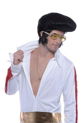 1960er 1970er Elvis Celebrity Stecker Fancy Kleid Perücke große (Elvis Deluxe Perücke)