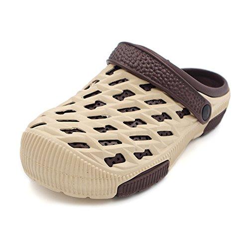 Eastlion Eva Alguns Sapatos Jardim Moda Praia Verão Casuais Meio Chinelos Para Os Amantes Do Estilo Masculino Cáqui 3