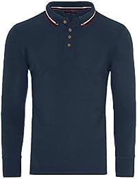 1106d846 Brave Soul Mens Lincoln Cotton Polo T Shirt Long Sleeve Pique Casual Golf  Top