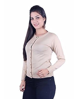 Ogarti Women's Woolen Cardigan (9002camel, Beige, Free Size)
