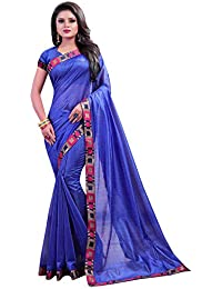 IndoPrimo Women's Party Wear Silk Saree With Blouse Piece