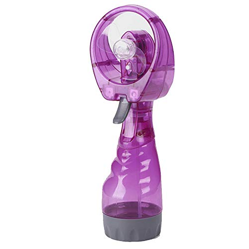 FENSIN Handheld Batteriebetriebener Nebellüfter, Sommer Neue tragbare Handkühlung Kühlwasserspray Nebellüfter Nebel Reise Strand - Lila - Turm-ventilator Lila