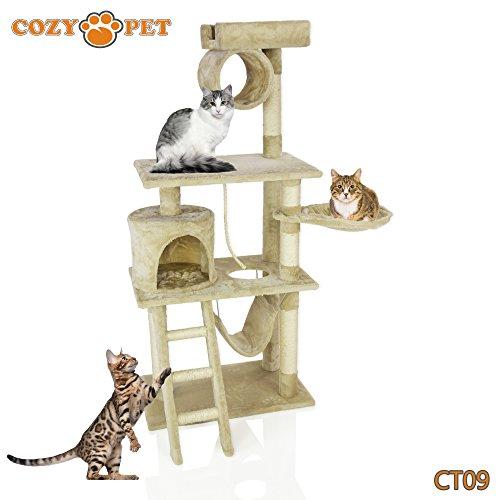 The Rabbit Hutch Co - Árboles para gatos, mascotas, multi nivel de lujo con rascador para gato de alta calidad, resistente, juguetes para gatos