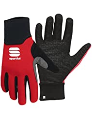 Sportful - Softshell Gloves, color black\red, talla 6Y