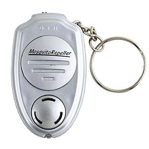 Peepheaven Key Clip Elektronische Ultraschall Moskito Pest Maus Killer Magnetische Repeller-Silber