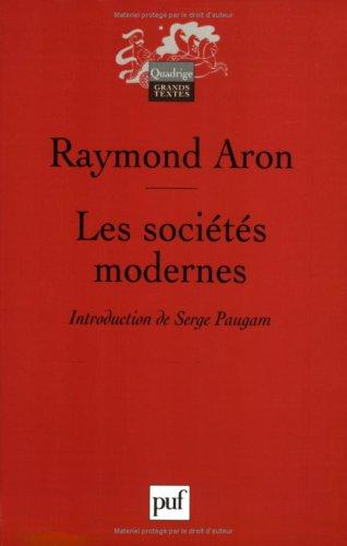Les sociétés modernes par Raymond Aron
