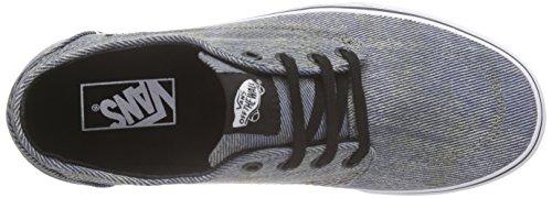 Vans Unisex-Erwachsene Brigata Sneaker Schwarz (acid Denim/blue/black)