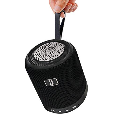 Sysmarts Radfahren/Draussen Tragbarer kabelloser Lautsprecher, Extra Bass Stereo-Bluetooth-Lautsprecher mit Integriertem Mikrofon, FM-Radio (Schwarz)