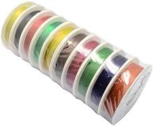 Color mezclado alambre, 0.3 mm, acerca de 20m / roll, 10rolls / set