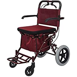 Rollator Walker avec Siège Et Repose-Pieds, Scooter Crutch Alternative en Sièges Et Paniers À Provisions Vieil Homme, Chariot de Caddie
