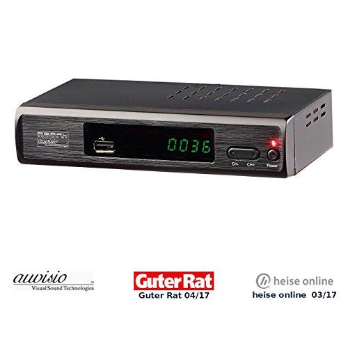 auvisio DVBT2 Receiver: DVB-T2-Receiver mit H.265/HEVC für Full-HD-TV, HDMI & SCART, LAN, USB (DVB-T2-Receiver mit HDMI-Anschluss)