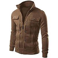 Sudaderas Hombre, Xinan Moda para hombre chaqueta de la capa de la rebeca de la solapa delgada diseñada
