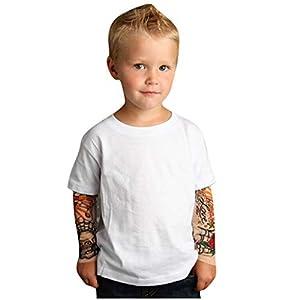 Surfiiy - Camiseta de manga larga para niño, diseño de tatuaje, 100% algodón, estampado de invierno, para niñas y niños de 1 a 6 años 3