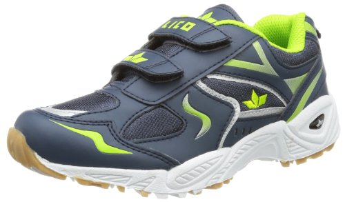 Lico Bob V 360349, Scarpe sportive indoor unisex bambino Blu (Blau (marine/lemon))