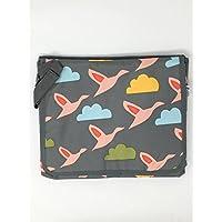 Pink Lining Rosebud Flying gansos portátil estación de cambiador/cambiador, color gris