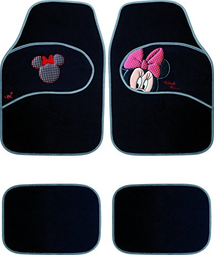 Image of Disney Baby Moquette Car Mats Minnie (36 Months, Black)