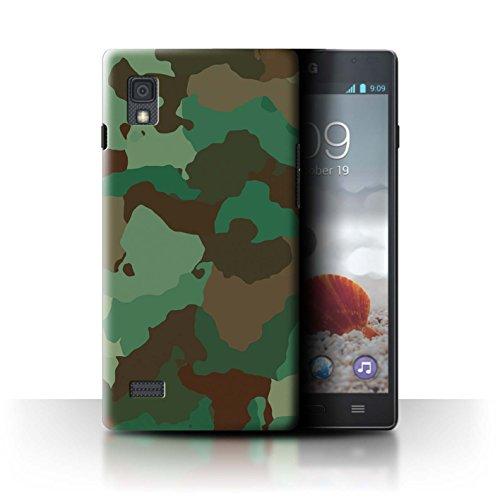 Stuff4® Hülle/Case für LG Optimus L9/P760 / Grüner Wald Angriff Muster/Militär Camouflage Tarnung Kollektion (Camo Lg Optimus L9 Case)