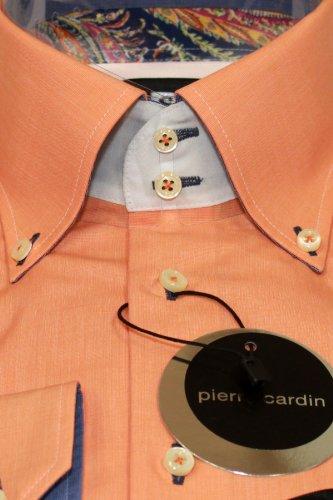 PIERRE CARDIN Hemd edel und aufwendig verabeitet Papaya