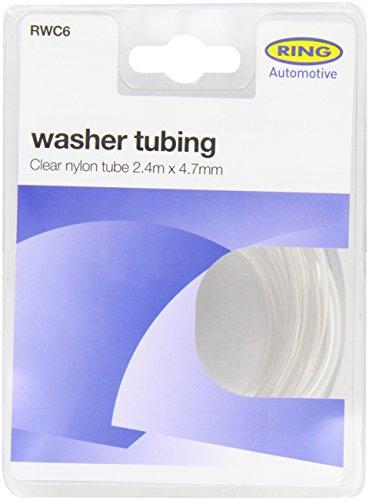 Ring Automotive RWC6 Nylon-Schlauch, 2,4 m lang, 4,7 mm Durchmesser, transparent