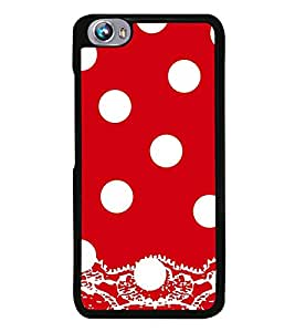 Vizagbeats White Polka Dot Pattern Back Case Cover for MICROMAX FIRE 4 A107