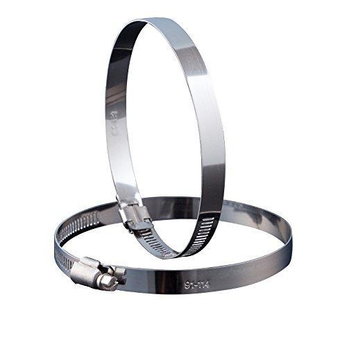 Industrielle Abluftventilator (Hon&Guan 2 Stück Schlauchschelle Edelstahl Verstellbare Spannbereich 190 - 216mm , Bandbreite 12mm (200mm))