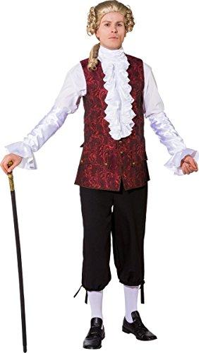 Orlob Herren Kostüm Barock GRAF Weste weinrot Karneval Fasching Gr.58/60