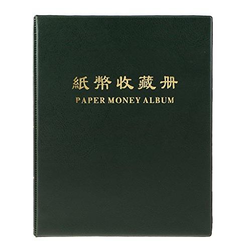 20 Pagine Album Raccolta Banconota Carta Moneta Titolare Libro #a Verde