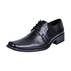 Hitz Mens 1436 Black Leather Lace-ups 7 UK