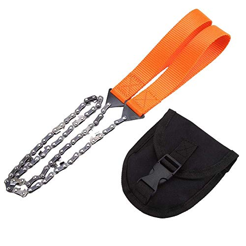 Generous Portable Survival Chain Saw Chainsaw Emergency Camping Pocket Hand Tool Pouch Convenience Goods Tool Parts