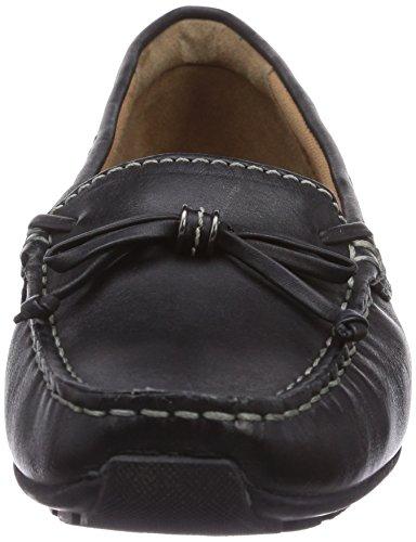 Clarks Dunbar Groove Damen Mokassin Schwarz (Black Leather)