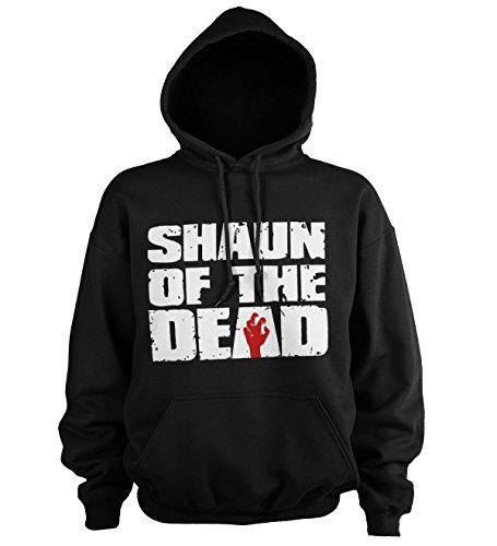 Shaun of the Dead Offizielles Lizenzprodukt Logo Kapuzenpullover (Schwarz), Large - Hot Fuzz-t-shirt