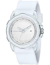 Black Dice BD 065 04 - Reloj analógico de cuarzo para hombre con correa de silicona, color blanco