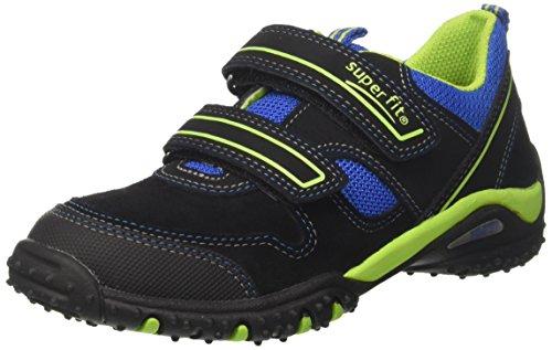 Superfit Jungen SPORT4 Sneaker, (Schwarz Multi), 35 EU