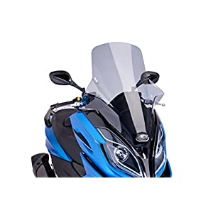 Puig 6810H Windshield Touring for Maxiscooter Kymco K-XCT 125i/300i 2013-2015, Smoke, Medium