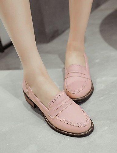 ShangYi gyht Scarpe Donna-Mocassini-Casual-Punta arrotondata-Basso-Finta pelle-Nero / Rosa / Beige Pink