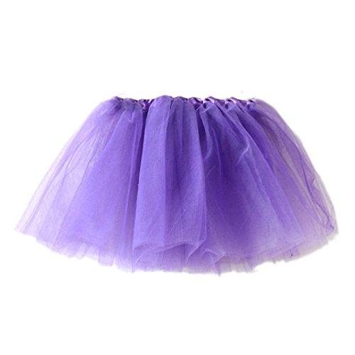 Vovotrade 2016 Mädchen-Prinzessin Pettiskirt Partei Ballettröckchen -Rock-Minikleid (Lila)