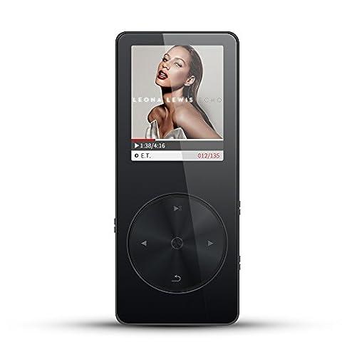 bassplay Tragbarer MP3-Player, S5verlustfreien Musik Player mit FM Radio, Voice Recorder und E-Book Reader 16GB