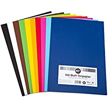 perfect ideaz Papel tintado A4 100 hojas de colores, en 10 colores diferentes, grosor