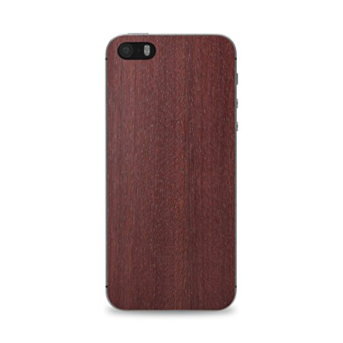 Cover-Up #WoodBack Peau de Bois Naturel pour iPhone 5 / 5s - Loupe d'orme des Carpates Purpleheart