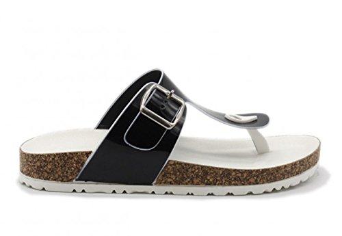 Tom & Eva Comfort séparateurs d'Plage Chaussures avec pieds Lit Turquoise - Noir