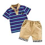 Baby Jungen Bekleidungssets Kleidung Set Shirt + Hose Baby Fliege Anzug für Baby Geburtstagsparty Sommer Kleidungs Outfits Pwtchenty Freizeitkleidung Bekleidungssets