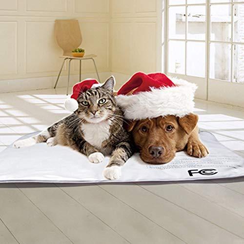 ShibaQ 50W Heizmatte für Haustiere Wärmematte für Hunde und Katzen Heizdecke Heizkissen, Überhitzungsschutz-Schalter, mit 9 einstellbaren Temperaturen und Herausnehmbaren Fleece-Hüllen(46×46cm)