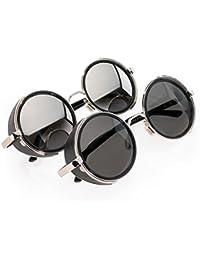 Romens Ltd 2er SET Sonnenbrille Cyber Herren Damen Spiegel